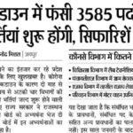 Rajasthan Gram Sevak Bharti 2020